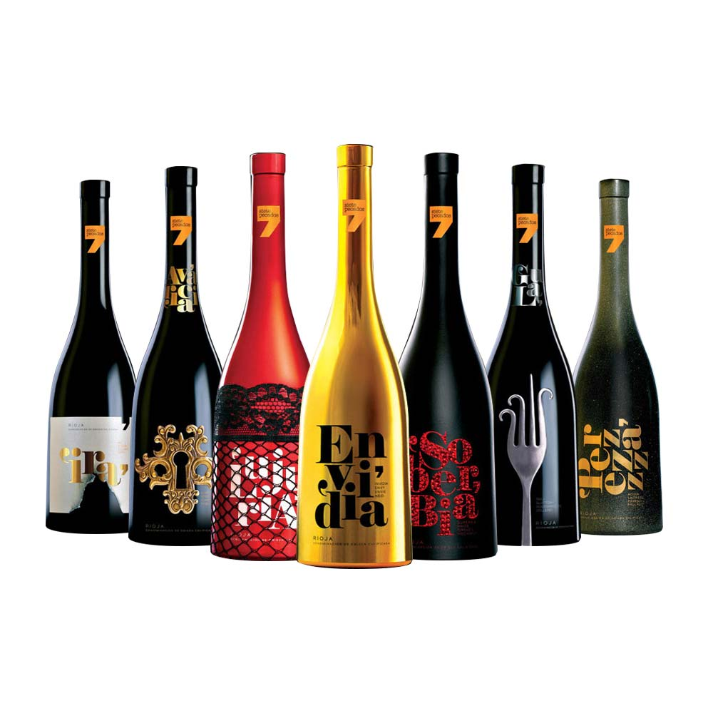 Bottelas case seven deadly sins wines 2014