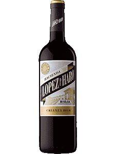 12 botellas López de Haro crianza 2017 y regalo de 6 botellas blanc
