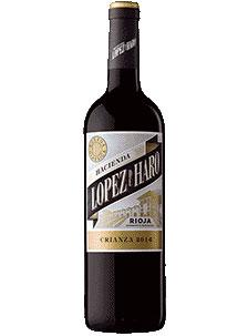 12 bouteilles de vieillissement López de Haro 2017 et cadeau de 6 bouteilles blanches