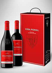 Athletic Club Bilbao case of 2 reserve bottles Viña Pomal
