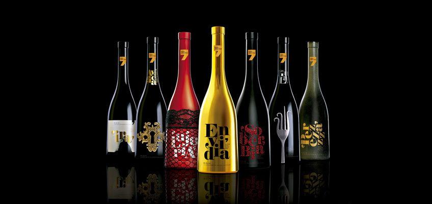 seven deadly sins wine case