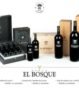 El Bosque caja de Madera con 2 Estuches de 2 botellas