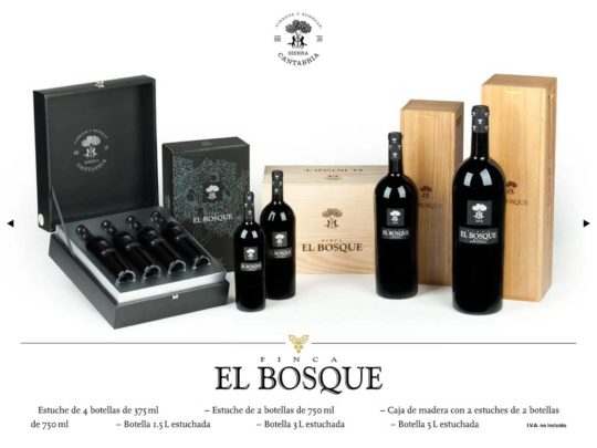 El Bosque Wooden box with 2 Cases of 2 bottles