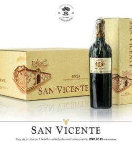 San Vicente Caja de 8 Botellas con estuches