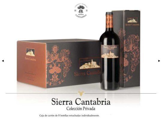 Sierra Cantabria Colección Privada 8 botellas con estuches