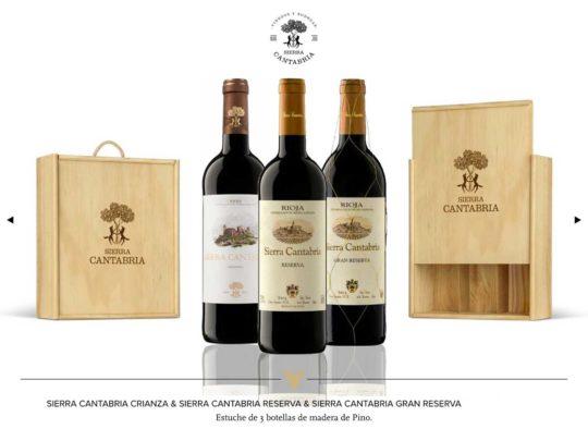 sierra cantabria crianza case, reserva, gran reserva noël 2020