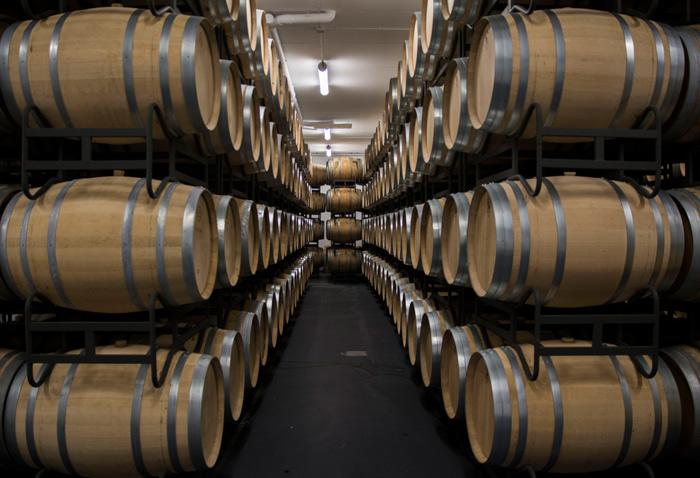 wineries proelio barrel room
