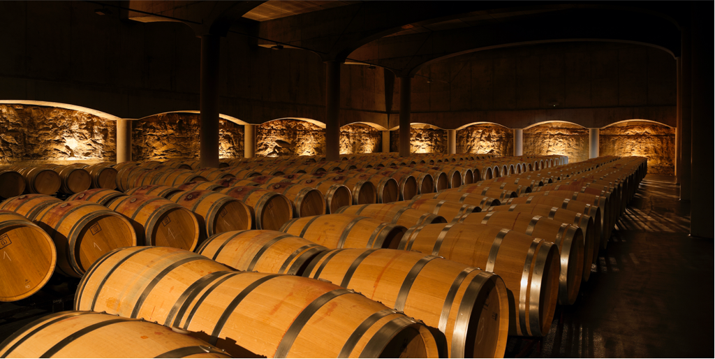 Castillo de Cuzcurrita wineries barrel room
