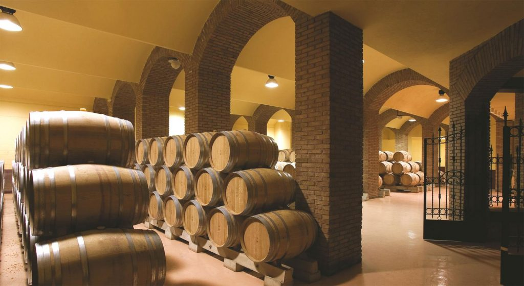 bodegas izadi barrel room