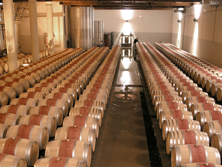 sierra cantabria barrel room