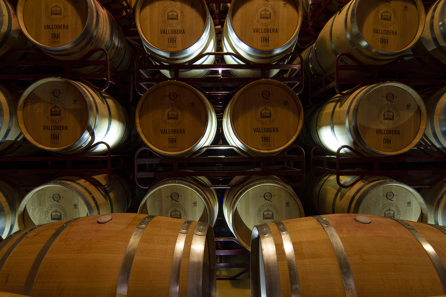 bodegas vallobera barrel room