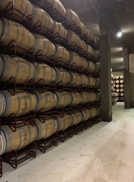 hacienda lopez de haro barrel room