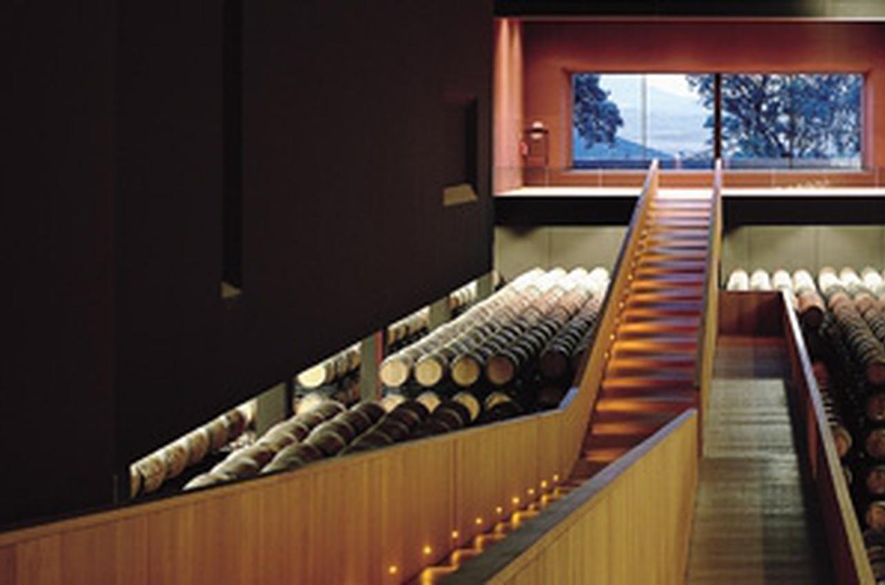 bodegas azpilicueta barrel room