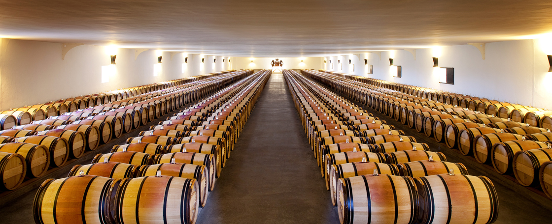 chateau Mouton-Rothschild barrel room