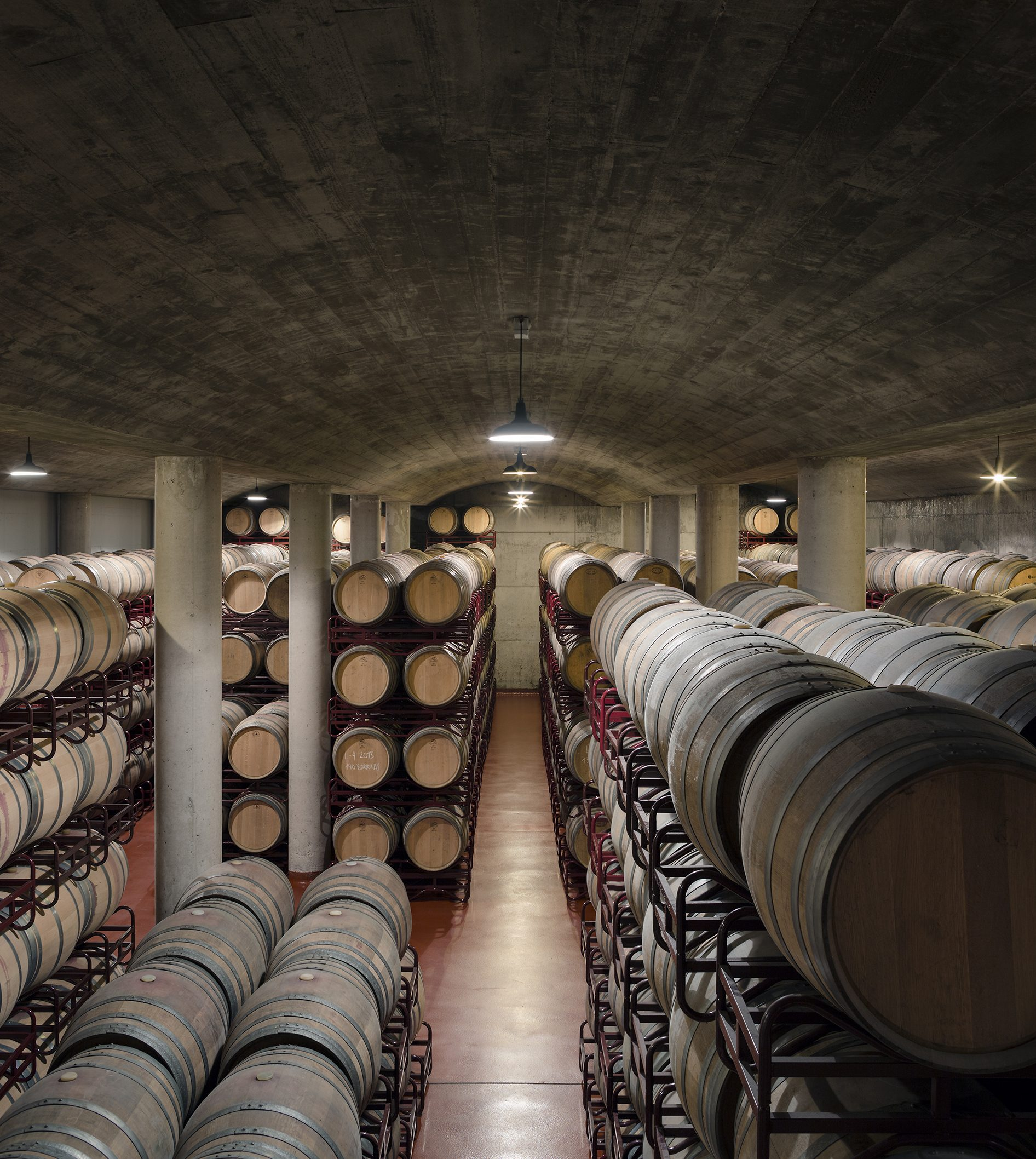 Bodegas Solabal Barrel Room